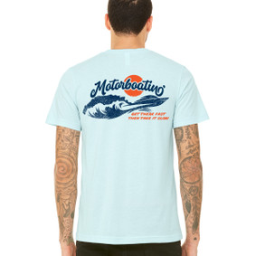 Men's Boating T-Shirt - Motorboating Get There Fast