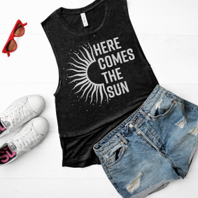 Boating Tank Top - Here Comes The Sun Muscle Tank