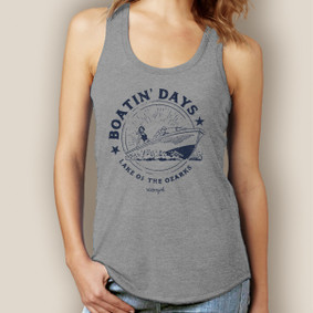 Boatin' Day Tank-Signature Tri-Blend Racerback
