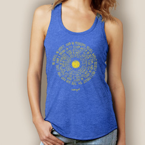 Kenny Chesney Spiral Song Lyrics Tank-Signature Tri-Blend Racerback