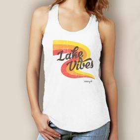 Lake Vibes Tank-Signature Tri-Blend Racerback
