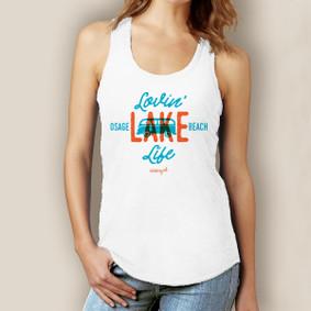 Lovin' Lake Life Tank-Signature Tri-Blend Racerback