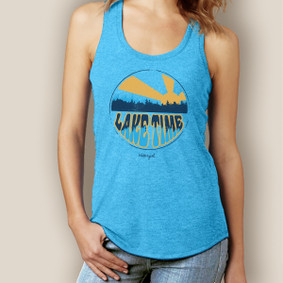 Lake Time Tank-Signature Tri-Blend Racerback
