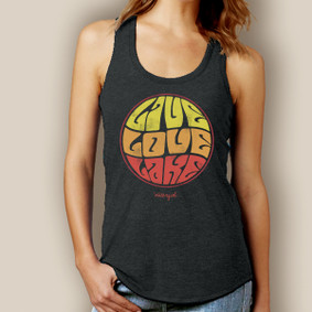 Groovy Live Love Lake Tank-Signature Tri-Blend Racerback