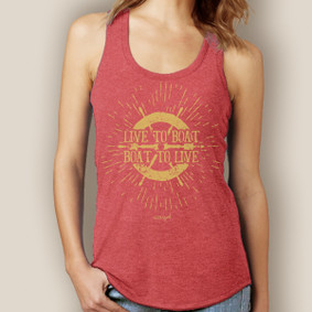 Live to Boat Boat to Live Tank-Signature Tri-Blend Racerback