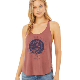 Bring On The Sun -  Flowy Side Slit Tank