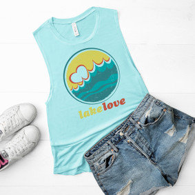 Boating Tank Top - Lake Love Muscle Tank