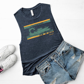 Boating Tank Top - Livin the Dream Muscle Tank