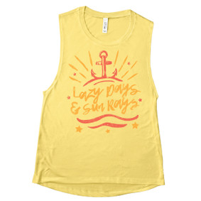 Boating Muscle Tank Top - Lazy Days