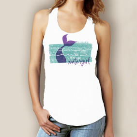 Watergirl Mermaid Tank-Signature Tri-Blend Racerback