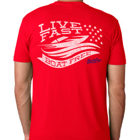 Men's Boating T-Shirt - Live Fast Boat Free