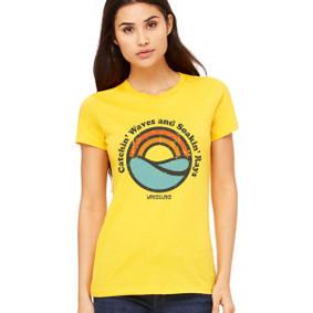 Women's Boating T-Shirt-Catchin' Waves and Soakin' Rays