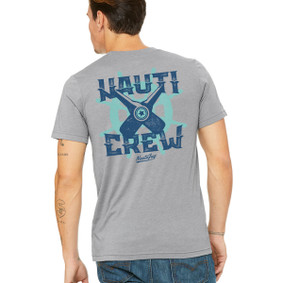 Men's Boating T-Shirt - Nauti Crew Sport Grey Crew