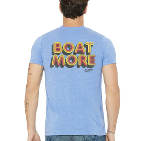 Men's Boating T-Shirt - Boat More (on back)