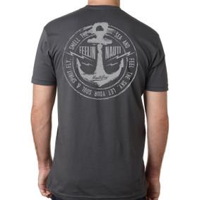Men's Boating T-Shirt - Feeling Nauti Lightning Bolt (on back)
