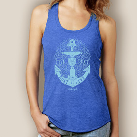 Live to Boat Anchor Tank-Signature Tri-Blend Racerback