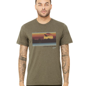 Men's Boating T-Shirt - Lake Time is Best Time (Front Print)