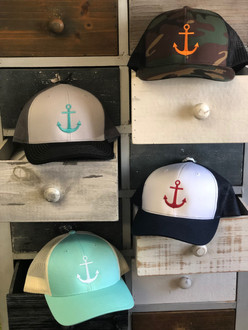 WaterGirl Snapback Trucker Anchor Hat