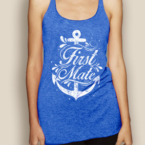 Boating Tank Top - WaterGirl First Mate Lightweight Racerback