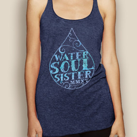 Boating Tank Top - WaterGirl Water Soul Sister Lightweight Racerback