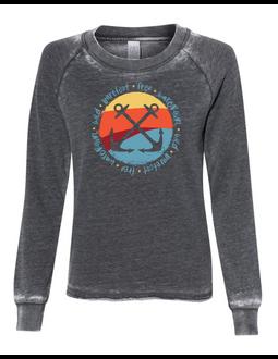 WaterGirl Wild Barefoot Free Crewneck Sweatshirt