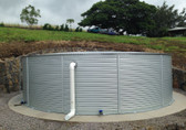 "XL23/02 29,093 Gallon - Pioneer Water Storage Tank (26' 4"" Diameter x 7' 3"" Height) Zinc"