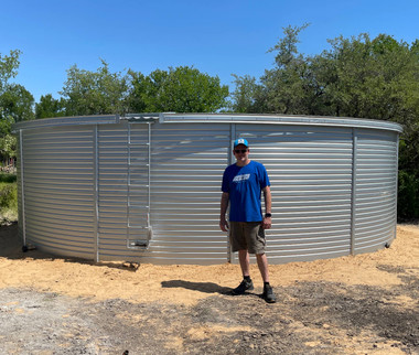 Pioneer XL23 Water Storage Tank - 30,000 Gallons w/ optional fascia