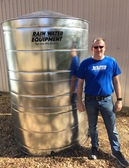 1000 Gallon Galvanized Steel Water Storage Tank NSF-61 Approved