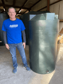 250 Gallon Rain Harvesting Tank PM250RH Green