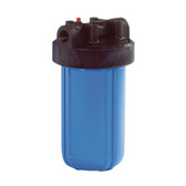 "4.5"" x 9.75"" Watts Blue Whole House Water Filter Housing 1 1/2"" Inlet/Outlet - With Pressure Release"