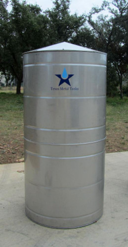 Small - Round Stainless Steel Water Storage Tank