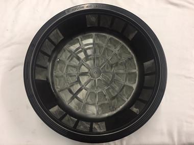 """16"""" High Flow Leaf Filter Basket w/ Light Guard (LSLGHF400) top view"""