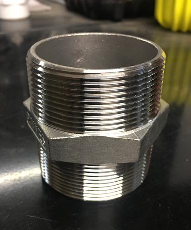 """2"""" Stainless Steel Hex Nipple"""