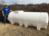 1025 Gallon White Horizontal Leg Tank 1.9 (32046)