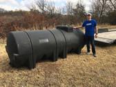 1025 Gallon Black Horizontal Leg Tank 1.5 (32042-Clearance)