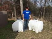 125 Gallon White Horizontal Leg Tank 1.9 (32082-Clearance)