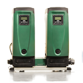 E.SYTWIN BOOSTER SET is a compact system with one E.SYTWIN docking system and two E.SYBOX's which have integrated variable speed drives. This is one of the most advanced systems in the world in rain-water recovery applications and domestic or residential pressure boosting systems. E.SYTWIN is a unique concept, efficient, compact, user-friendly system which offers excellent results.