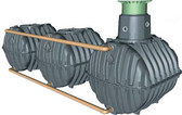 "Graf Carat S 5100 Gallon Underground Modular Cistern with Pedestrian Manway, 14"" Telescopic Riser and Childproof PE Lid."
