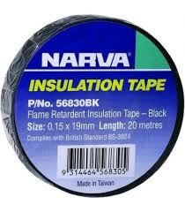 Narva Insulation Tape Black 20mtrs (56820BK)