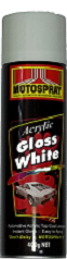 Motospray Acrylic Gloss White 400g (MSGW-400G)