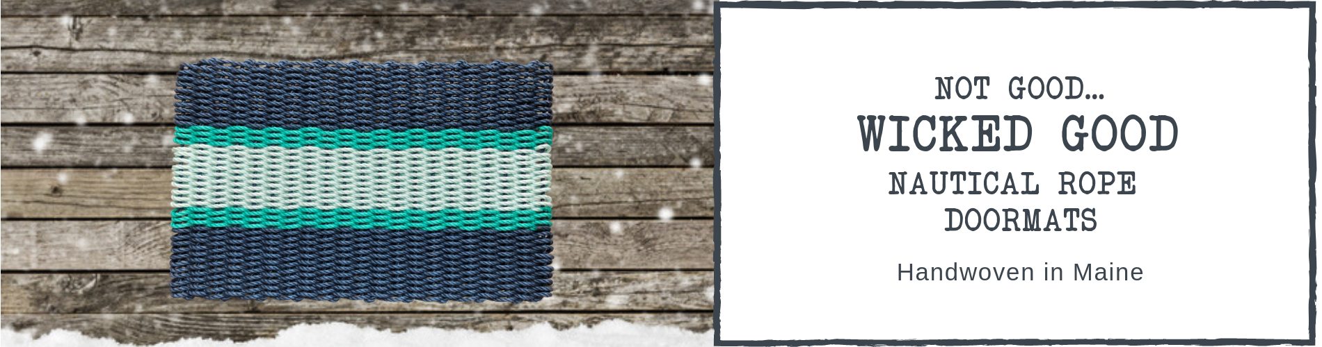 Lobster Nautical Rope Doormats Made in Maine