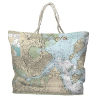 Nautical Chart Bag, Portland Maine