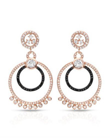 925 Sterling Silver Earrings With Cubic zirconia .