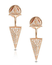 14K/925 Gold plated Silver Earrings With Cubic zirconia