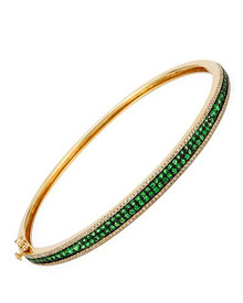 VIDA 14K Yellow Gold Bangle Bracelet With 1.55ctw Precious Stones