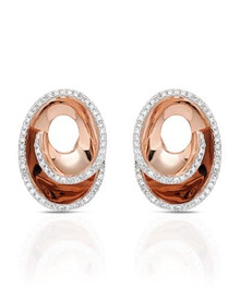 KREMENTZ Rose Gold Earrings With Clean Diamonds