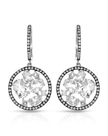 KREMENTZ White Gold Earrings With Diamonds and Topazes