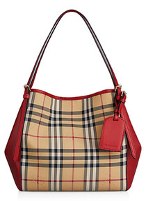 Burberry The Small Canter Horseferry Check Tote Bag 39398981