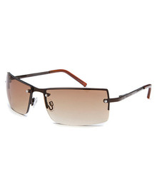 Men's Rectangle Brown Sunglasses KENNETHCSUN - KCR1038-O067
