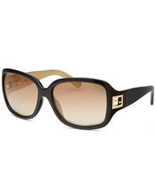 Women's Rectangle Black & Gold Sunglasses FENDISUN - FS5206FF-004-58-15